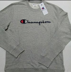 Champion Crew Neck Sweatshirt Mens Gray
